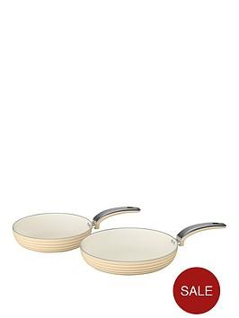 swan-retro-set-of-2-frying-pans-ndash-cream