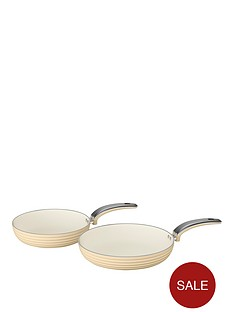 swan-swan-retro-set-of-2-frying-pans-ndash-cream