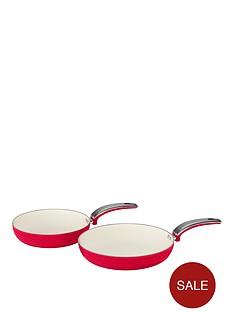 swan-swan-retro-set-of-2-frying-pans-ndash-red