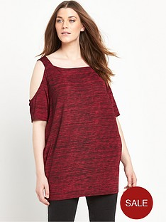 so-fabulous-space-dye-cold-shoulder-tunic-top