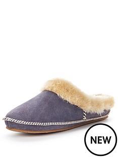 clarks-eskimo-ski-suede-mule-slipper
