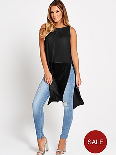 samantha-faiers-longline-sheer-hem-top