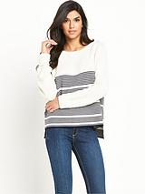 Ripple Stitch Detail Stripe Jumper