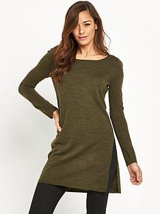 v-by-very-side-split-marl-tunic
