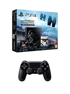 playstation-4-ps4nbsp1tbnbsplimited-edition-black-console-with-star-wars-battlefront-and-extra-dualshock-controllernbsp