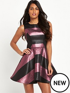 v-by-very-metallic-stripe-prom-dress