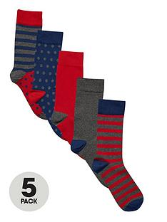 v-by-very-spot-and-stripe-socks-5-pack
