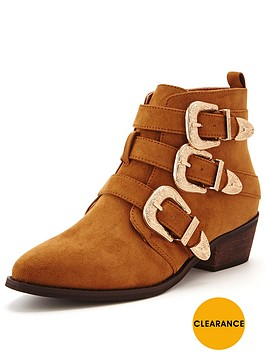 shoe-box-vine-triple-buckle-western-detail-ankle-boot-tan