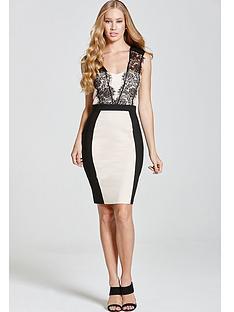 paper-dolls-monochrome-lace-trim-dress