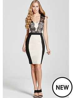 paper-dolls-monochrome-lace-trim-dress
