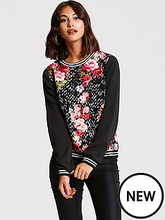 girls-on-film-girls-on-film-red-floral-spot-sweatshirt