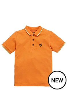 lyle-scott-ss-tipped-polo-sunset-orange