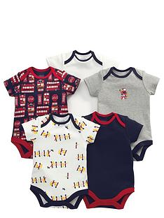 mamas-papas-baby-boys-london-bus-bodysuits-5-pack