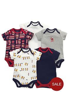 mamas-papas-baby-boys-london-bus-bodysuits-5-pack
