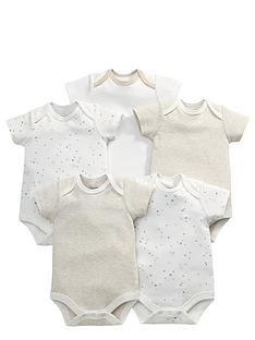 mamas-papas-unisex-baby-sand-bodysuits-5-pack