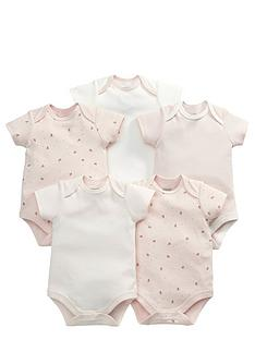 mamas-papas-5pk-pink-bodysuits