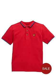 lyle-scott-ss-tipped-polo-royal-red