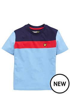 lyle-scott-short-sleeve-colour-block-tshirt