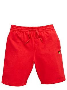 lyle-scott-jogger-short-royal-red