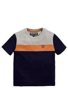 lyle-scott-ss-block-colour-tee-deep-indigo