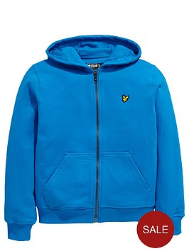 lyle-scott-zip-thru-hoody-deep-cobalt