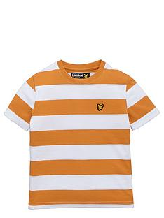 lyle-scott-ss-bold-stripe-tee-sunset-orange