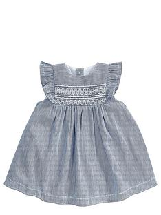 mamas-papas-stripe-smock-dress