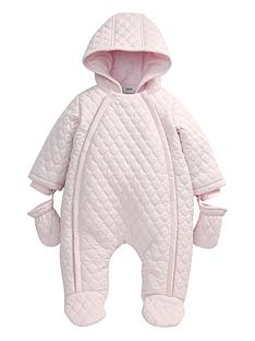 mamas-papas-girls-quilted-pramsuit