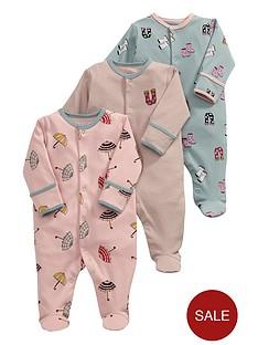 mamas-papas-baby-girls-rainy-days-sleepsuitsnbsp3-pack