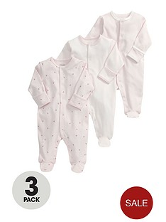 mamas-papas-baby-girls-pink-sleepsuitsnbsp3-pack