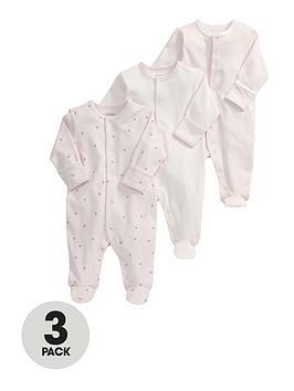 mamas-papas-baby-girls-pink-sleepsuitsnbsp3-pack