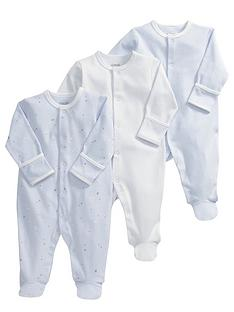 mamas-papas-3pk-blue-sleepsuits