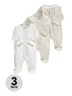 mamas-papas-baby-unisex-sand-sleepsuitsnbsp3-pack