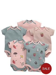 mamas-papas-baby-girls-rainy-days-bodysuits-5-pack