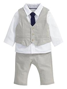 mamas-papas-baby-boys-linen-waistcoat-trousers-shirt-and-tie-set