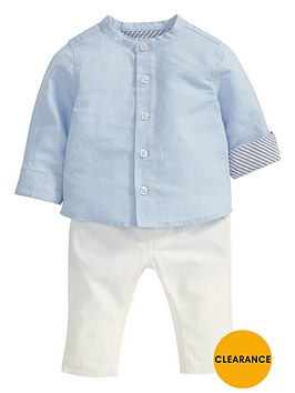 mamas-papas-baby-boys-linen-shirt-and-trousers-set
