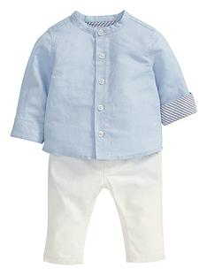 mamas-papas-linen-shirt-amp-trouser-set