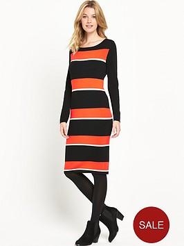 v-by-very-stripe-midi-dress