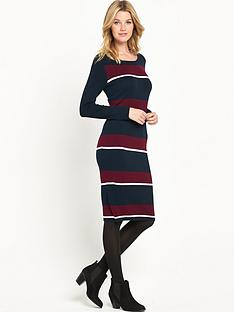 v-by-very-stripe-midi-dress