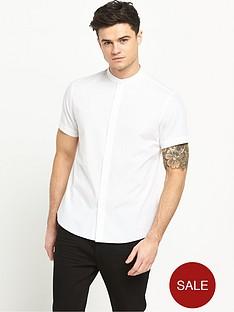 v-by-very-short-sleeve-grandad-collar-shirt