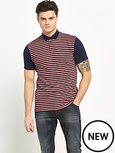 v-by-very-short-sleeve-jaquard-polo