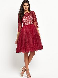 chi-chi-london-lace-three-quarter-sleeve-midi-prom-dress