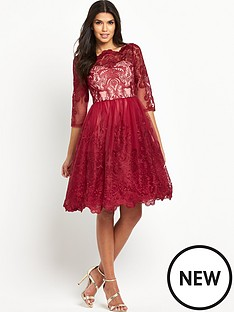 chi-chi-london-lace-three-quarter-sleeve-midi-prom-dress