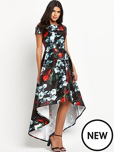 chi-chi-london-digital-floral-print-bardot-dipped-hem-maxi-dress