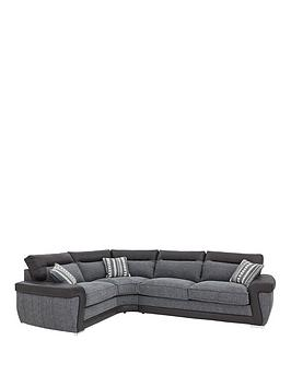 Zak LeftHand Fabric Corner Group Sofa Bed