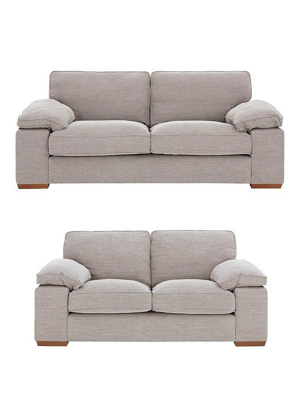 Aylesbury 3 Seater + 2 Seater Fabric Sofa Set (Buy and SAVE!)