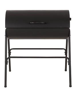 oil drum bbq with cover charcoal. Black Bedroom Furniture Sets. Home Design Ideas