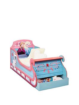 Disney Frozen Disney Frozen Sleigh Feature Toddler Bed