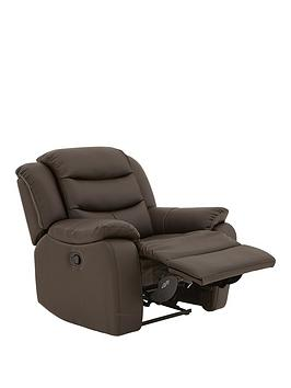 Very Rothbury Luxury Faux Leather Manual Recliner Armchair Picture