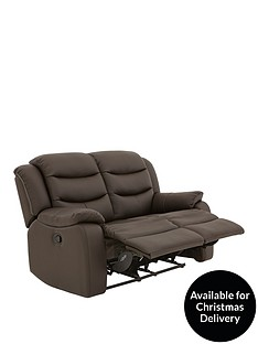 Rothbury Luxury Faux Leather 2 Seater Manual Recliner Sofa